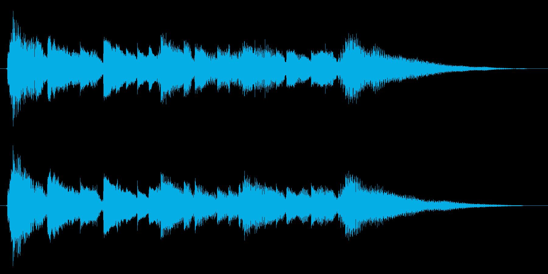 アコギで奏でた穏やかで優しいジングル1の再生済みの波形