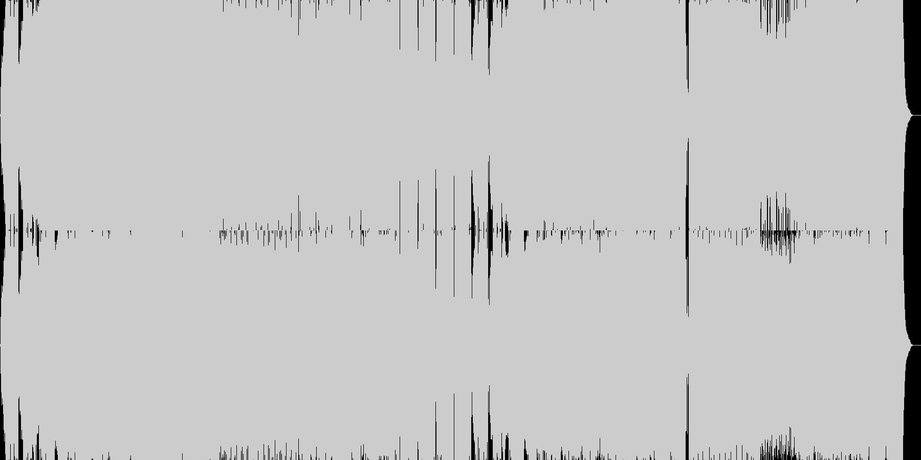 壮大で切ない感じのエレクトロの未再生の波形
