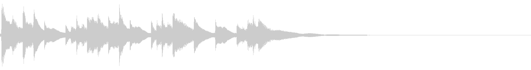 琴☆アイキャッチ4の未再生の波形