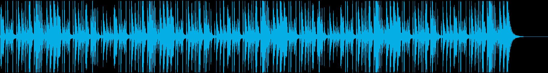 無機質な雰囲気のリズムの再生済みの波形