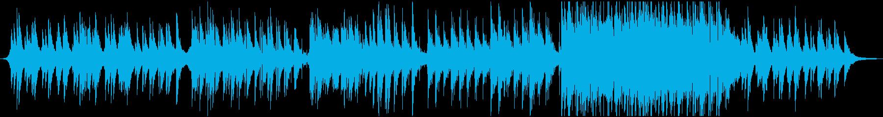ピアノを主体としたシンプルなED向け楽曲の再生済みの波形