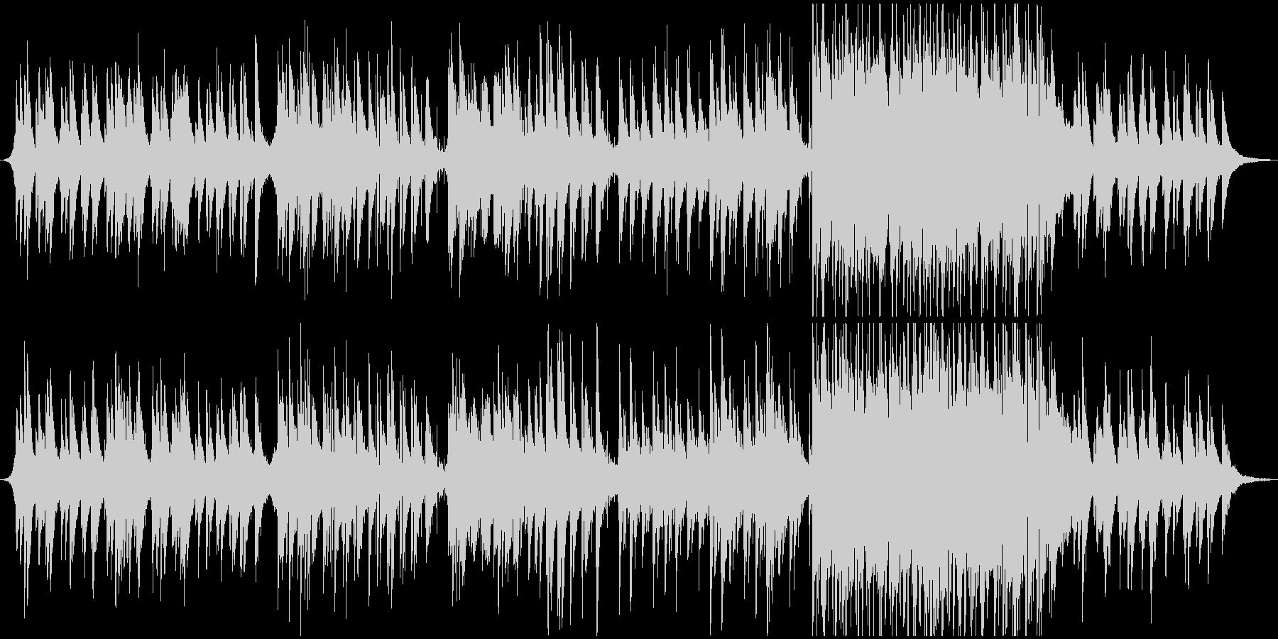 ピアノを主体としたシンプルなED向け楽曲の未再生の波形