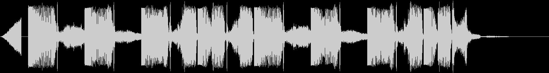Kawaii系のポップなジングルの未再生の波形