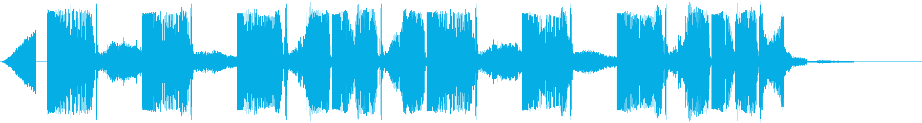 Kawaii系のポップなジングルの再生済みの波形