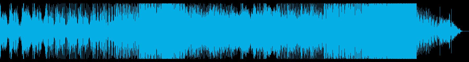 激しめのトランステクノミュージックですの再生済みの波形