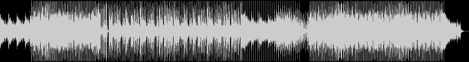 ピアノの旋律が印象的なロックの未再生の波形