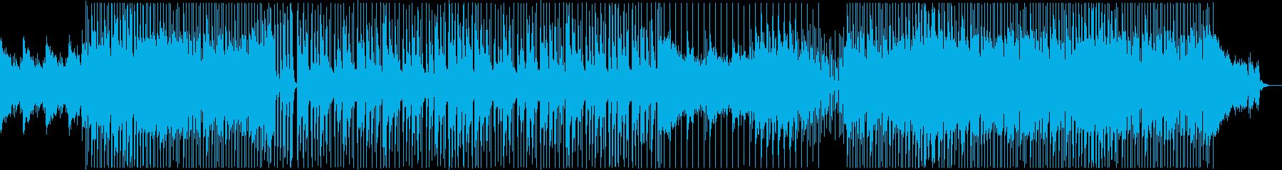 ピアノの旋律が印象的なロックの再生済みの波形