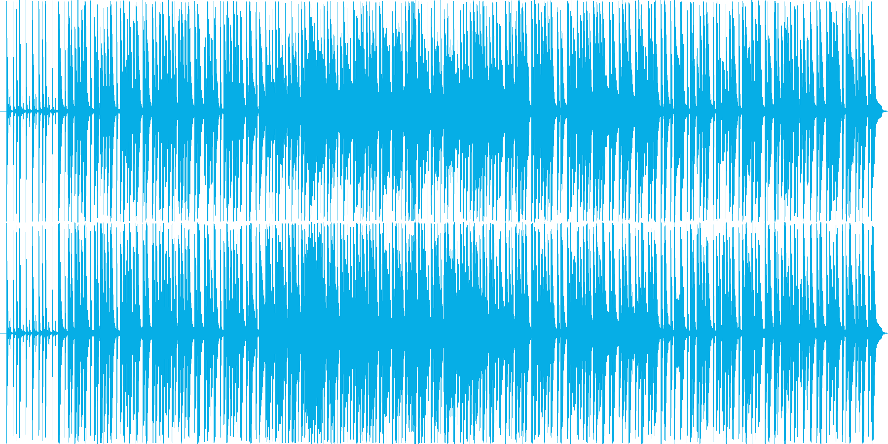 ゲームやアニメに適したのどかで明るい楽曲の再生済みの波形