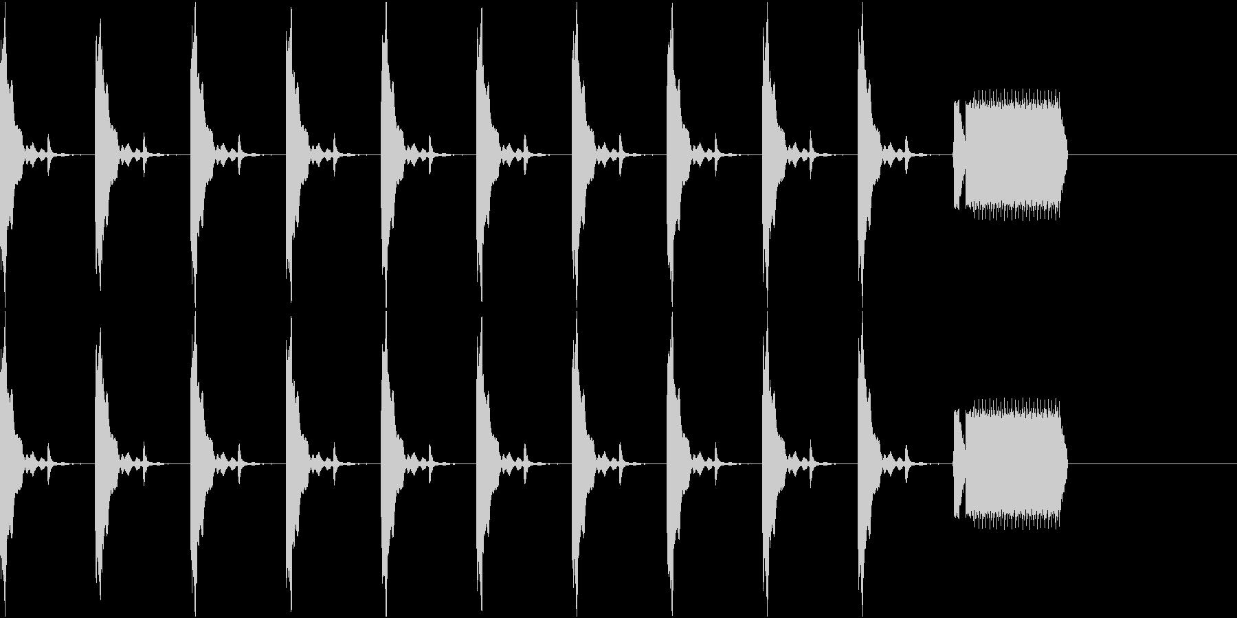 カウントダウン10秒チクタク+ホイッスルの未再生の波形