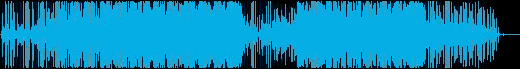 ちょっぴりレトロな近未来・テクノBGMの再生済みの波形