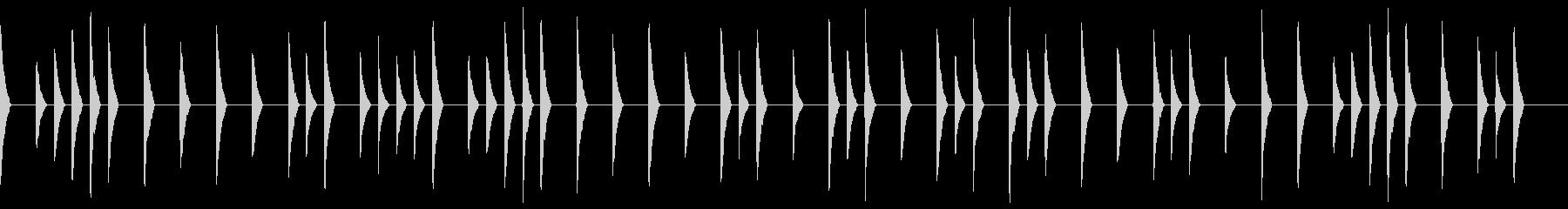 ファミコン風のホラージングルの未再生の波形