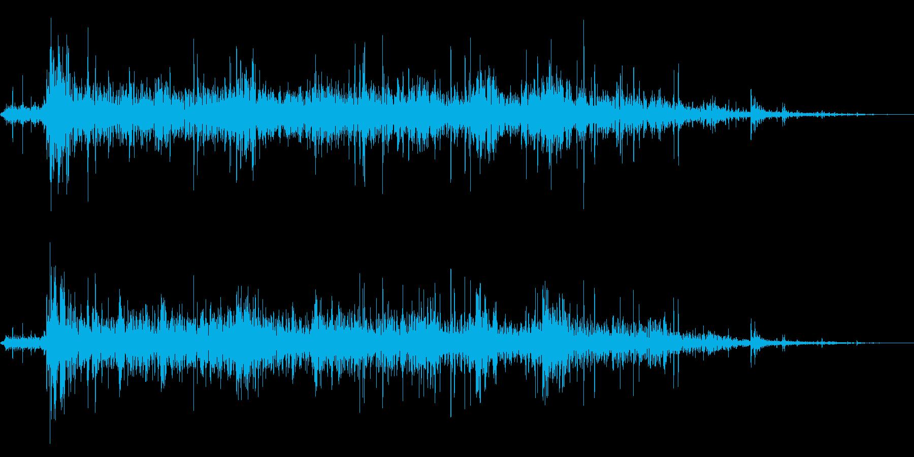 本当にリアルな連続花火の効果音!6の再生済みの波形