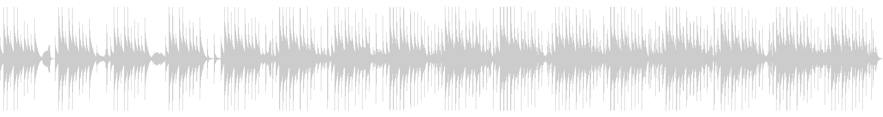 ピタゴラスイッチ風コミカルに焦るBGMの未再生の波形
