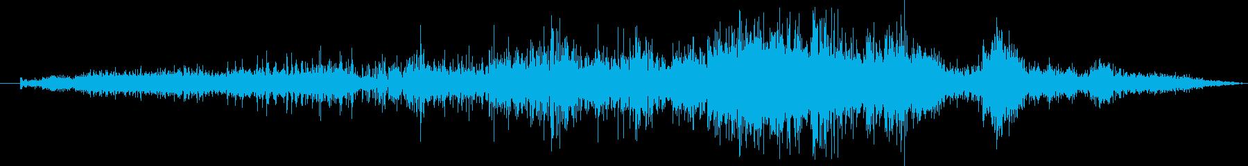 ゾンビの唸り声の再生済みの波形