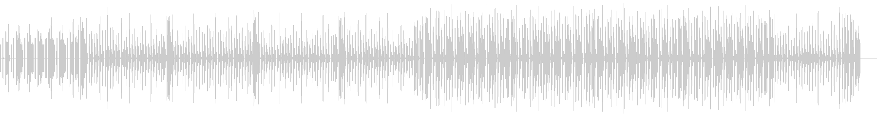 ゲーム風音色を用いたJPOP風の曲の未再生の波形