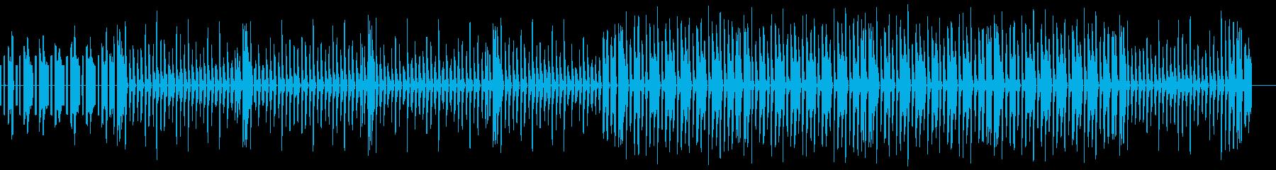 ゲーム風音色を用いたJPOP風の曲の再生済みの波形