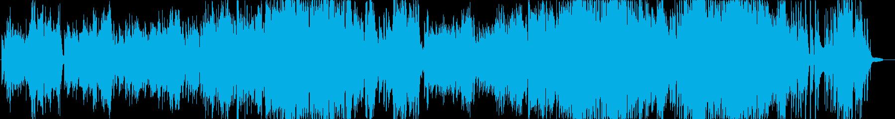 ピアノ弾き語りの再生済みの波形
