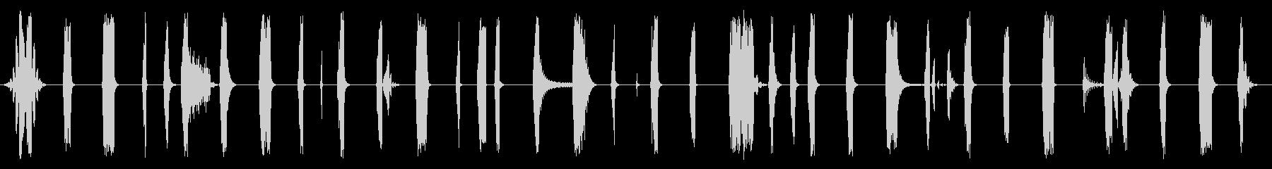 静的ポッパー溝の未再生の波形