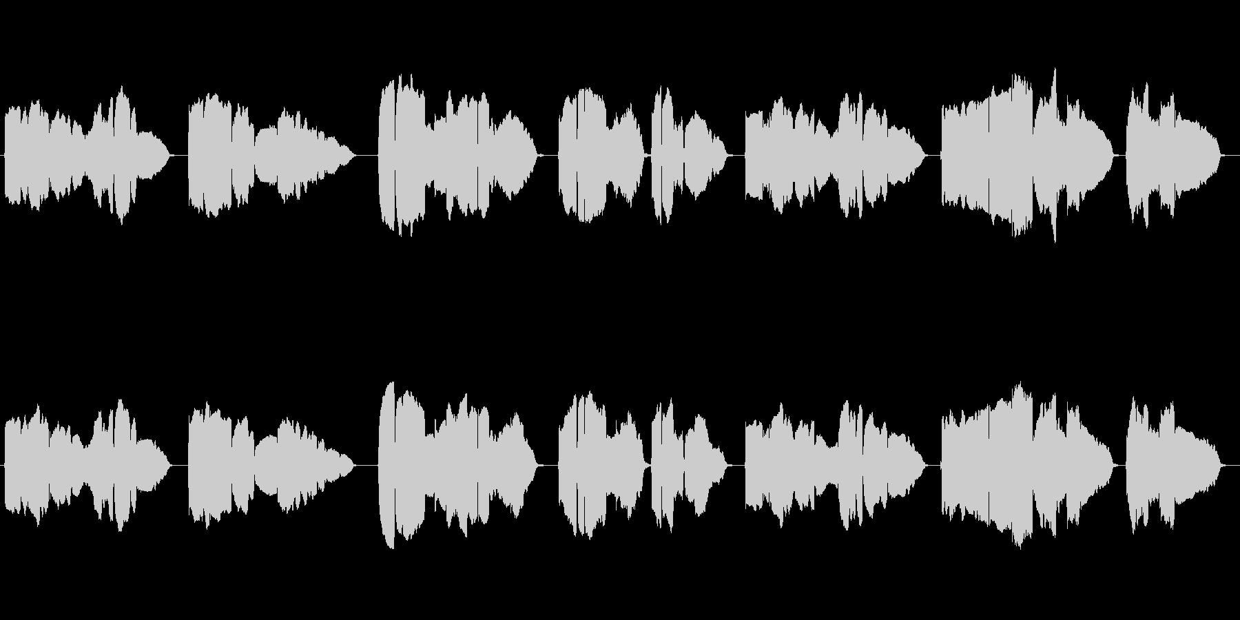 童謡「家路」のトランペット独奏の未再生の波形