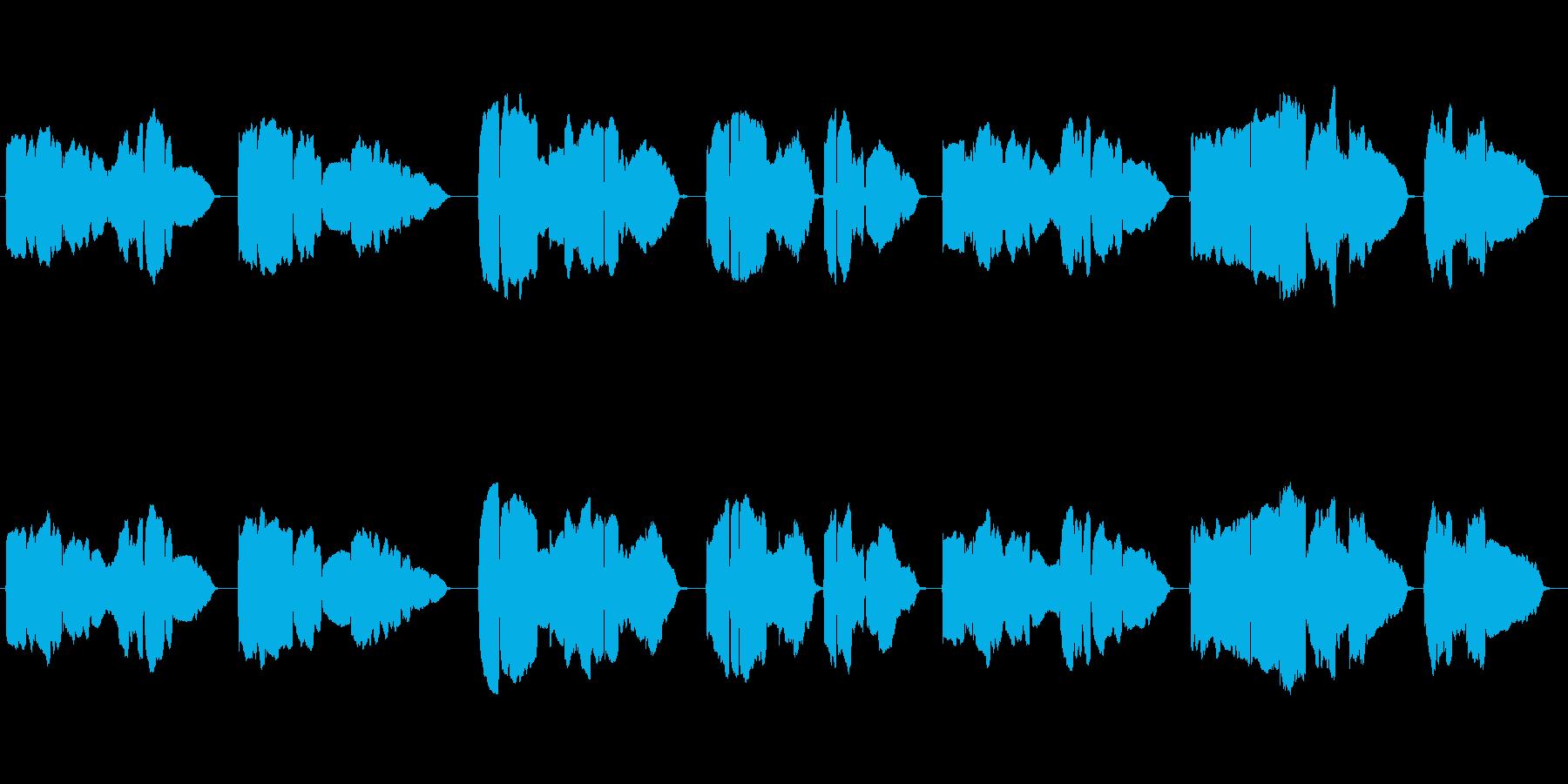 童謡「家路」のトランペット独奏の再生済みの波形