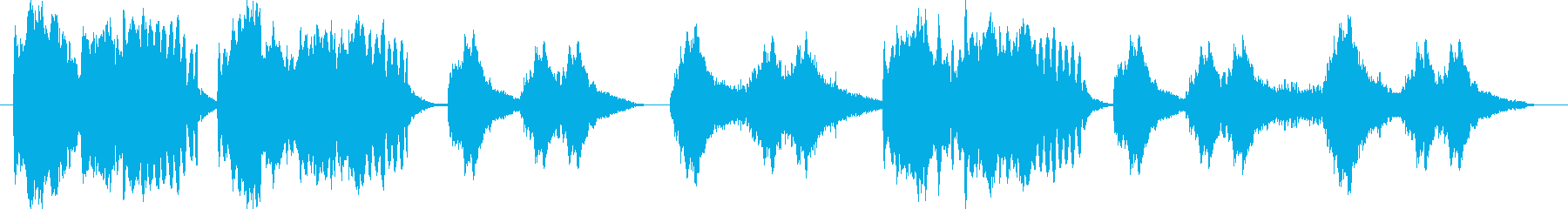 フルート、ハープ、ウィンドチャイム...の再生済みの波形