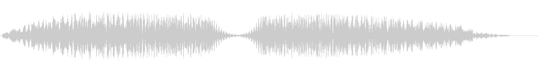 ドュルルードュルル(不思議なビームの音)の未再生の波形