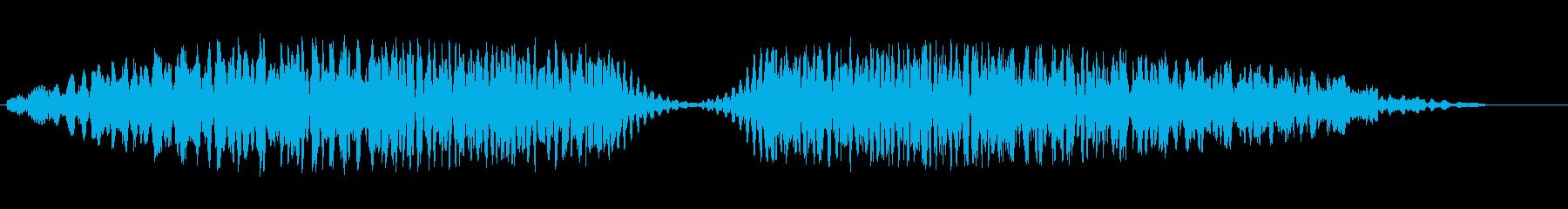 ドュルルードュルル(不思議なビームの音)の再生済みの波形