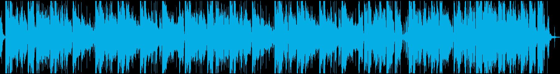 ゆったりした雰囲気のチルホップ(ループ)の再生済みの波形