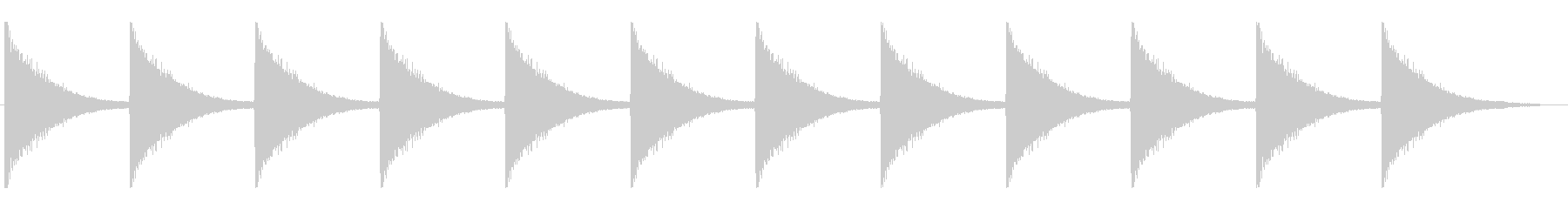 機械式振り子時計の12時の時報の未再生の波形