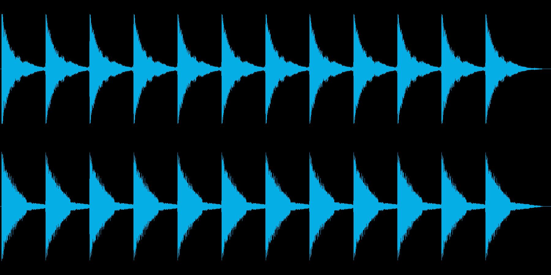 機械式振り子時計の12時の時報の再生済みの波形