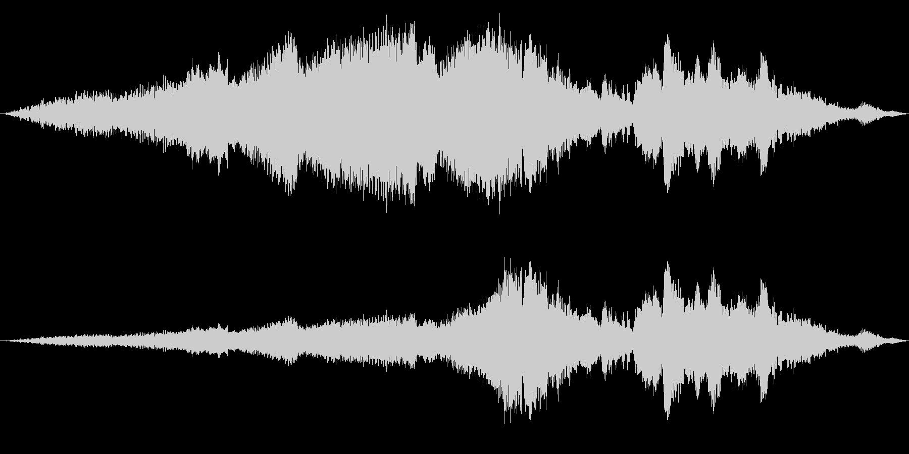 長い文字列の上昇と下降の未再生の波形