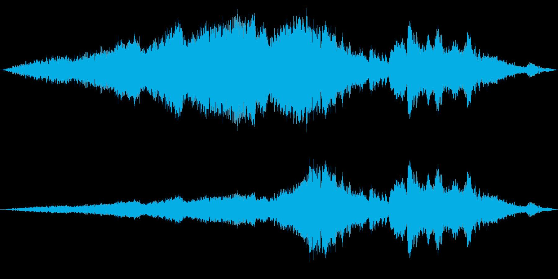 長い文字列の上昇と下降の再生済みの波形