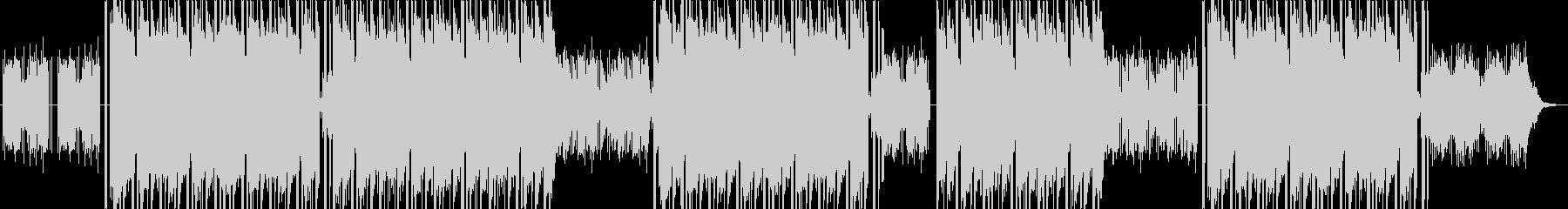 暗いピアノフレーズのトラップビートの未再生の波形