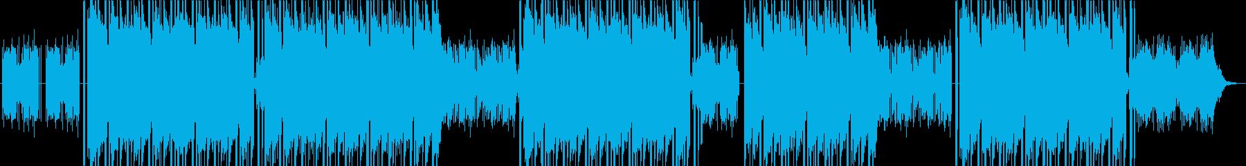 暗いピアノフレーズのトラップビートの再生済みの波形