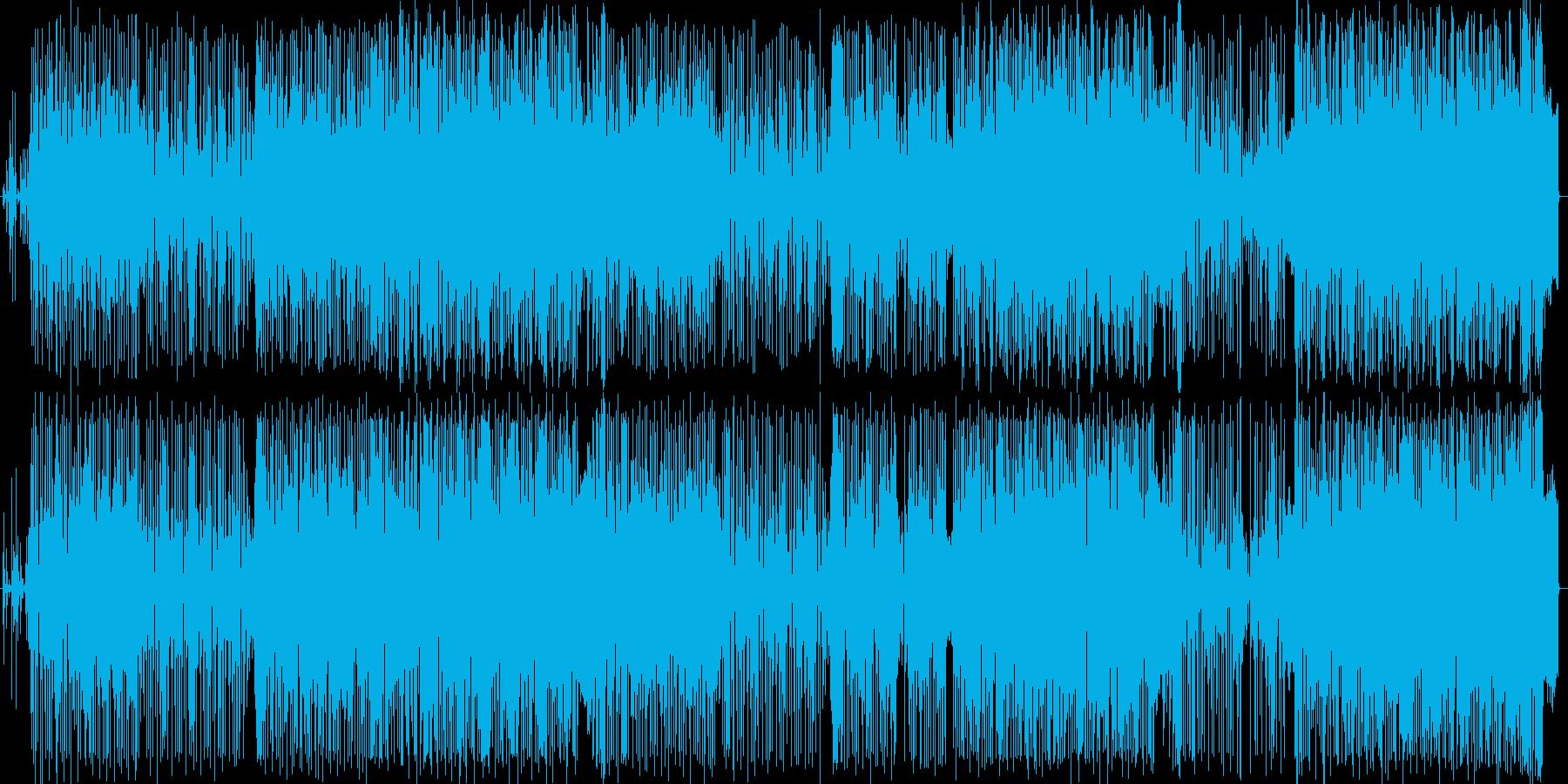 電子的で未来的なサウンド。クールなシンセの再生済みの波形