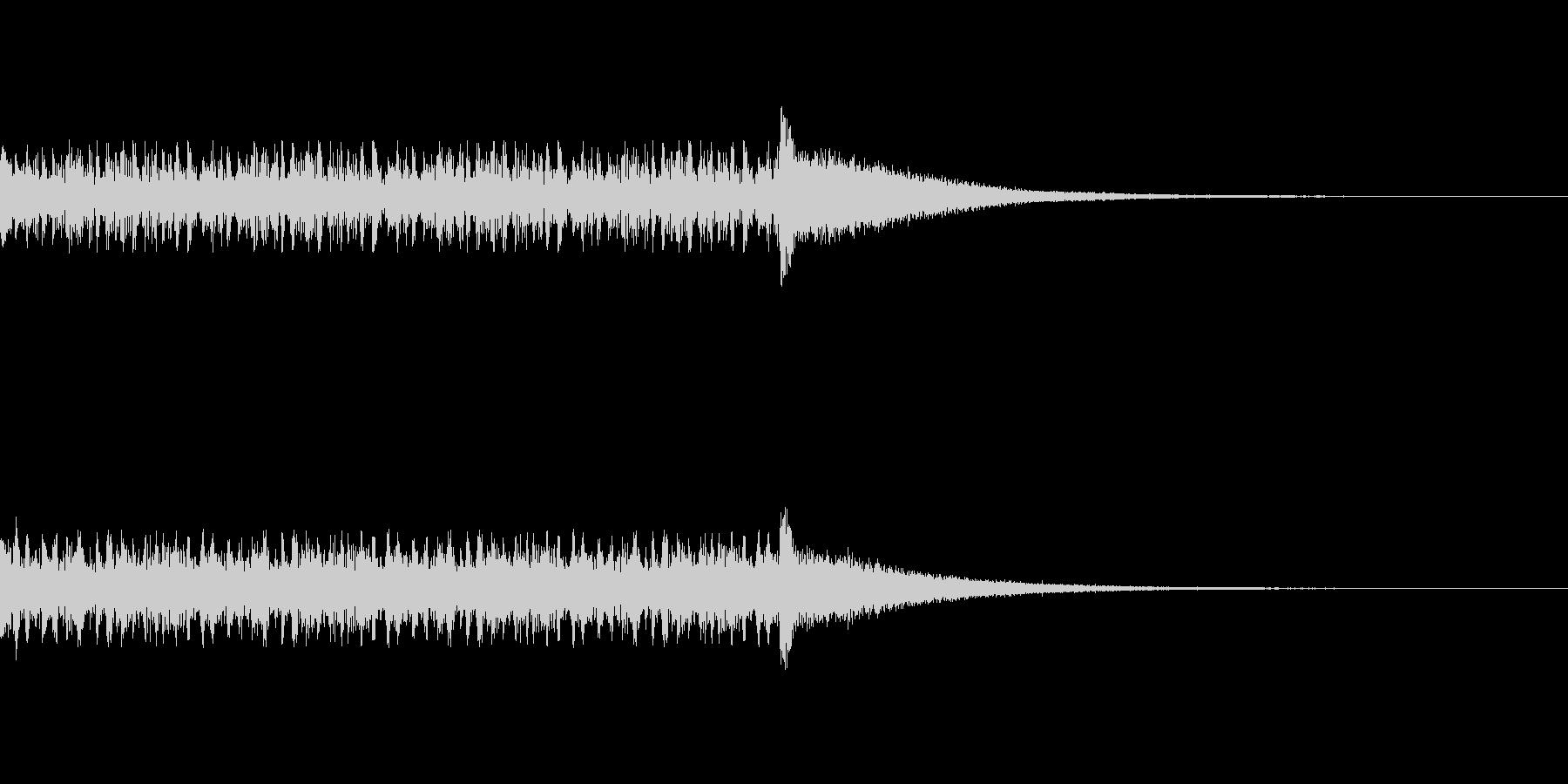 ドラムロールの音の未再生の波形