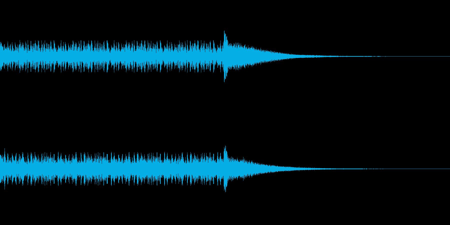 ドラムロールの音の再生済みの波形