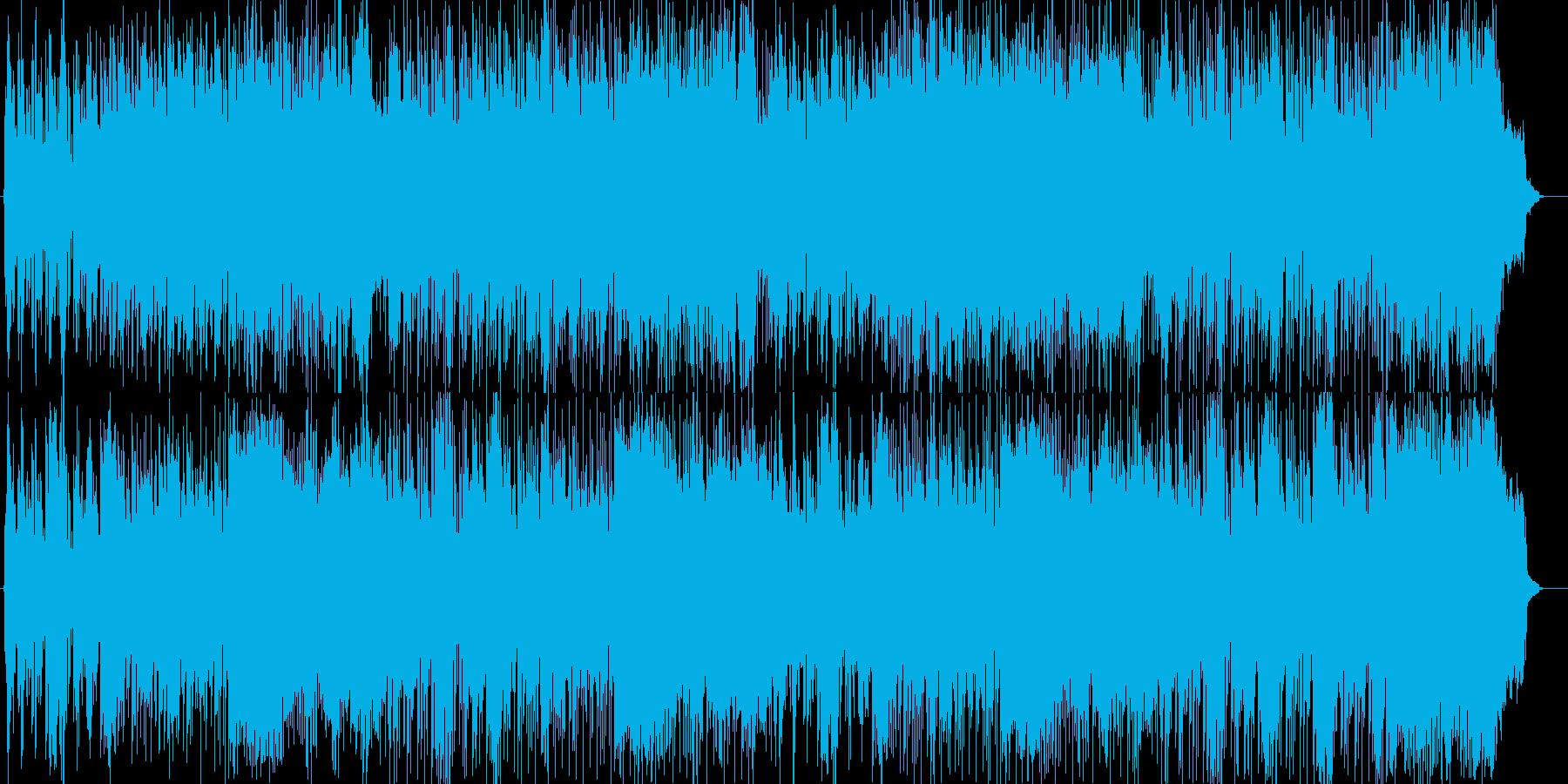 疾走感あるポップミュージックの再生済みの波形