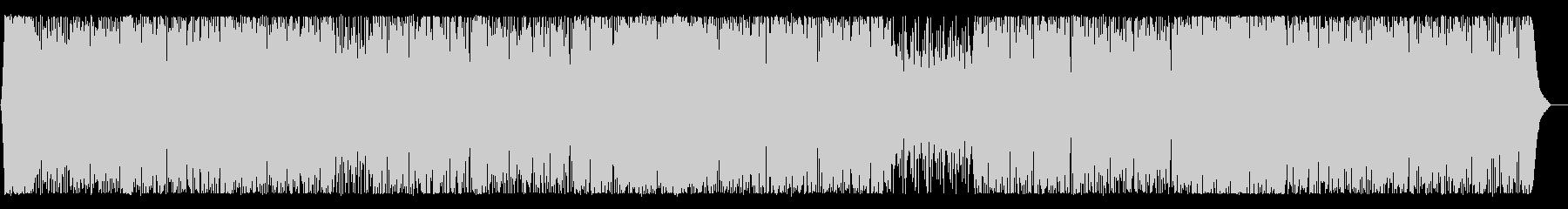 活動的で軽やかなイメージのBGMの未再生の波形