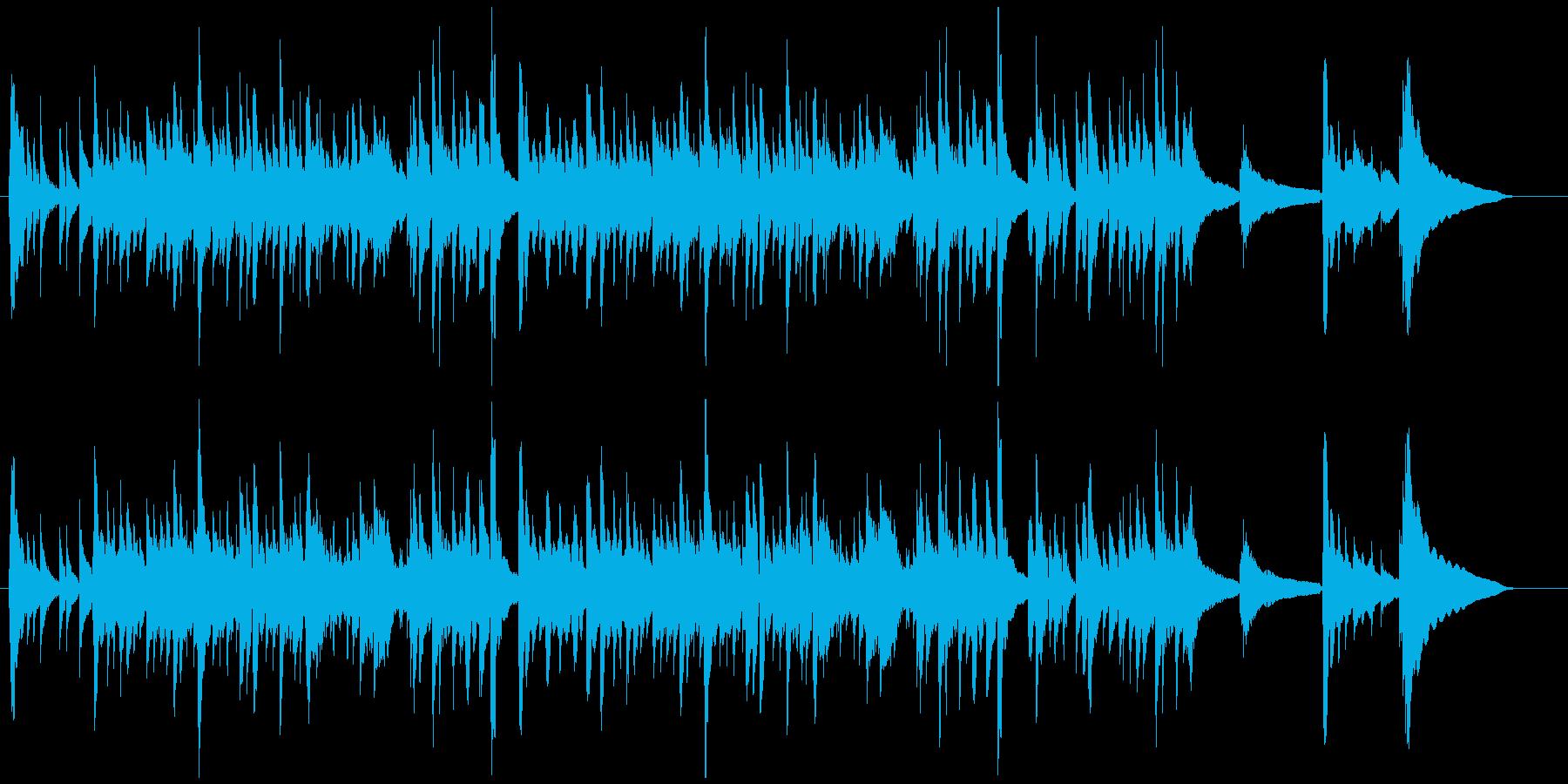 クリスマス定番曲クラシックギターの独奏の再生済みの波形