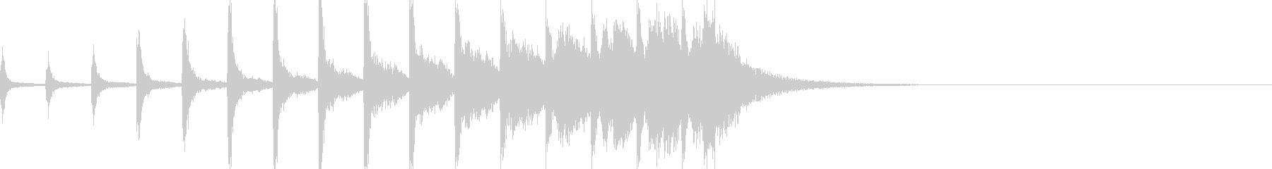 シンプルなドラムロールの未再生の波形