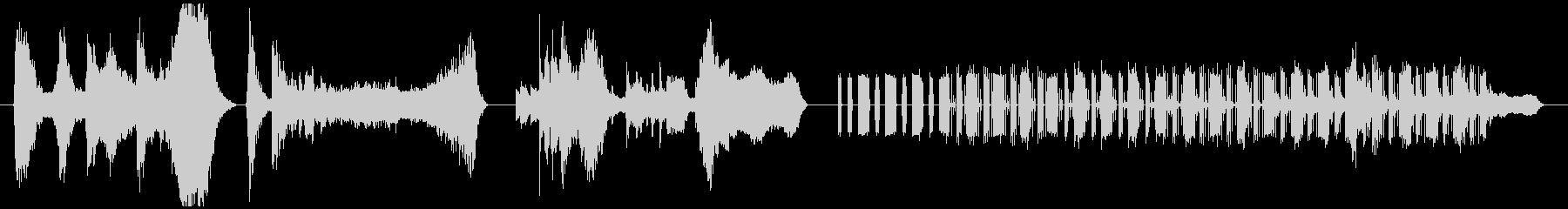 山の夕焼けと重低音の調べの未再生の波形