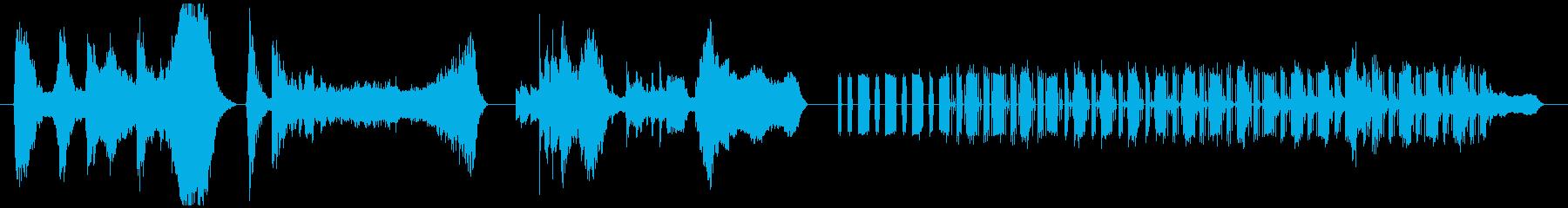山の夕焼けと重低音の調べの再生済みの波形