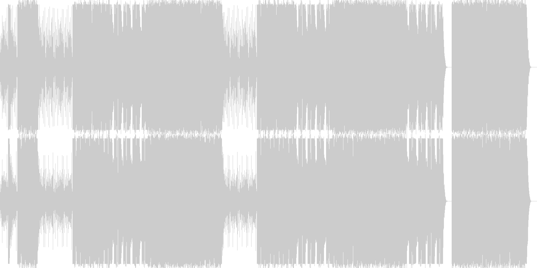 和太鼓/三味線/琴/和風/クランク#1の未再生の波形