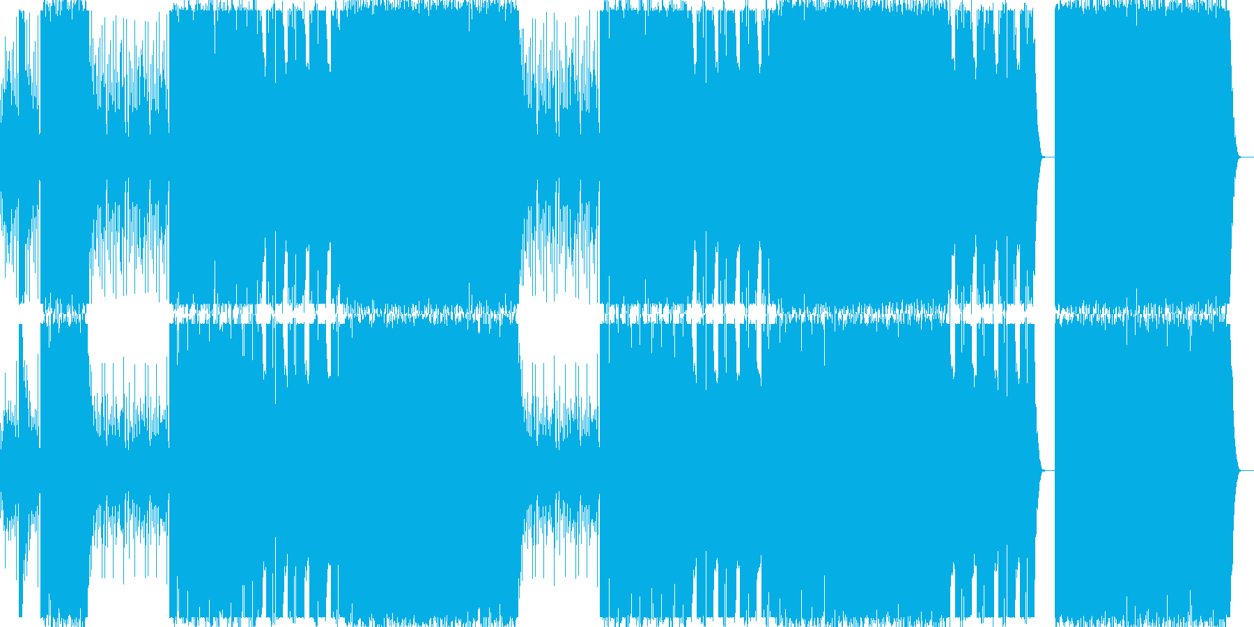 和太鼓/三味線/琴/和風/クランク#1の再生済みの波形