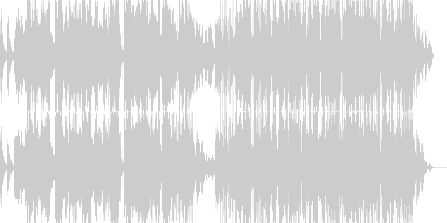 焦燥感のある電子世界的音楽の未再生の波形