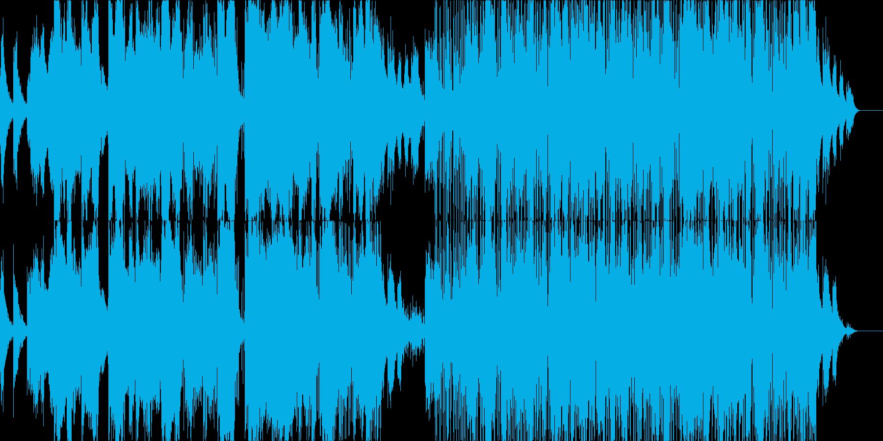 焦燥感のある電子世界的音楽の再生済みの波形