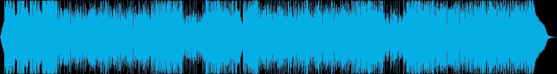 強力なクラシックロックトラックの再生済みの波形