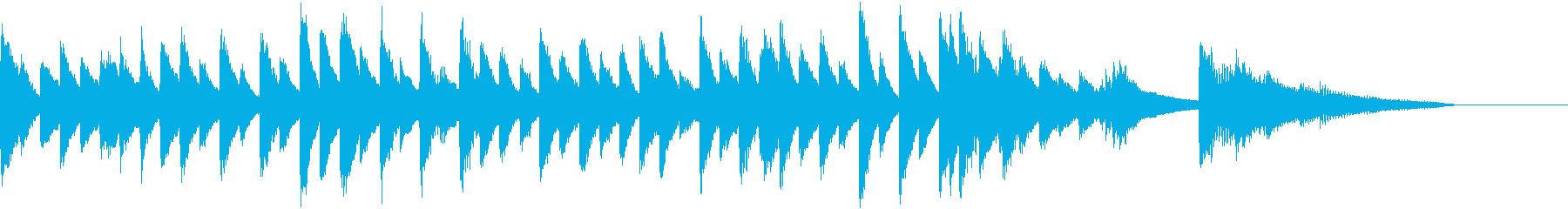 小粋で軽やかな夏の日本風ピアノジングルの再生済みの波形