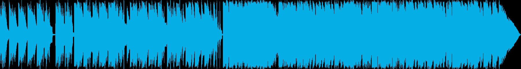 北欧の民族音楽風な楽曲の再生済みの波形